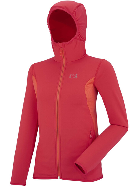 Millet W's Tech Stretch Light Hoodie Hibiscus/Hot Coral
